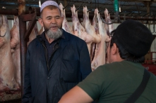 A morning meat market in Ili, near China's border with Kazakhstan.