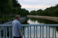 A moment of repose in Beijing's urban sprawl.