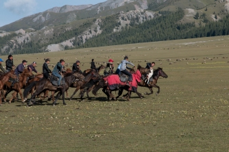 Surging across the Buzkashi plain